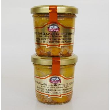 """Le Lot de 2 bocaux de 90 g de Foies Gras de Canard Entiers du Périgord """"Tradition"""""""