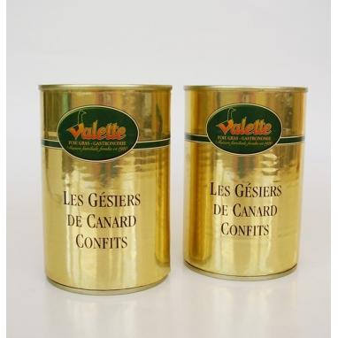 Le Lot de 2 Confits de Gésiers de Canard - boîtes 400 g