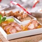 Les Rondos de Jambon au Foie de Canard et à la Gelée au Monbazillac (30% de Bloc de Foie Gras)