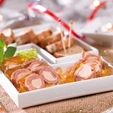 Les Rondos de Jambon au Foie de Canard et à la Gelée au Monbazillac (30% de Bloc de Foie Gras) - Boîte 200 g