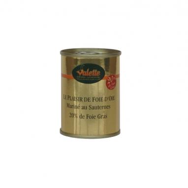 Le Plaisir au Foie d'Oie Parfumé au Sauternes (20% de Foie Gras)