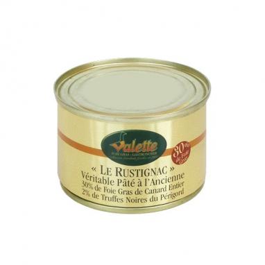 """""""Le Rustignac"""" Véritable Pâté à l'Ancienne (Noyau 30% de Foie Gras de Canard Entier - 2% de Lamelles de Truffes du Périgord)"""