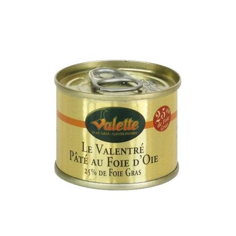 """""""Le Valentré"""" Paté au Foie d'Oie (25% de Foie Gras)"""