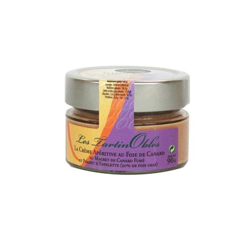 Les TartinObles - La Crème Apéritive au Foie de Canard, au Magret de Canard Fumé et Piment d'Espelette (20% de foie gras)