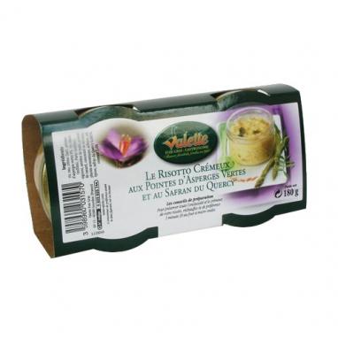 Risotto aux pointes d'asperges vertes et au safran du Querçy
