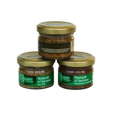 Le Trio de Moutardes à l'Ancienne - 3 bocaux 50 g