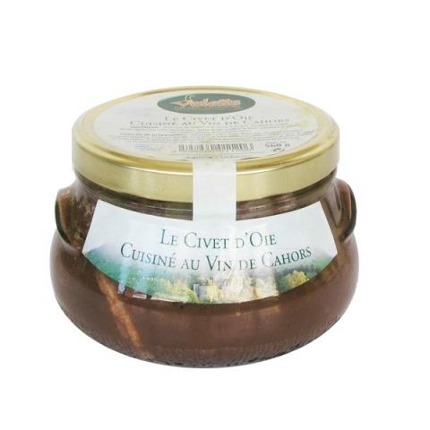 Le Civet d'Oie Cuisiné au Vin de Cahors