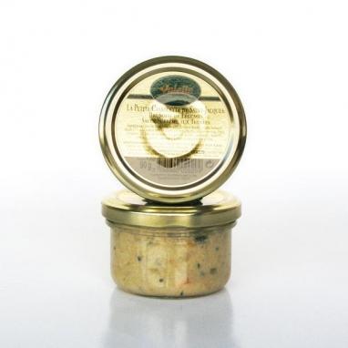 La Cassolette de Saint- Jacques, Brunoise de Légumes Sauce Suprême aux Truffes