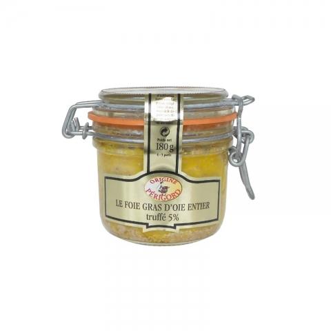 Le Foie Gras d'Oie Entier du Périgord Truffé à 5% de Truffes Noires du Périgord