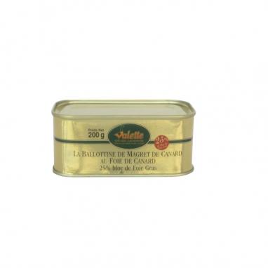La Ballottine de Magret de Canard au Foie de Canard (25% de Foie Gras)