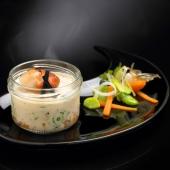 Le Lot de 2 Cassolettes de Saint-Jacques, Brunoise de Légumes, Sauce au Jus de Truffe Noire 3% et Truffe Noire 1%