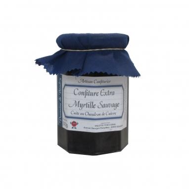 Confiture extra de Myrtilles sauvages - Pot à Facettes 370 g