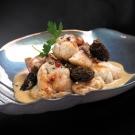 Les Ris de Veau Braisés en Cocotte Mijotés aux Morilles et au Jus de Truffes Noires du Périgord