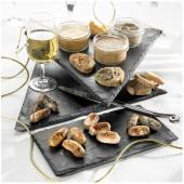 Les Petits Boudins Blancs au Foie de Canard Sauce Royale au Foie Gras + les Petites Saucisses de Toulouse au Coulis de Tomates
