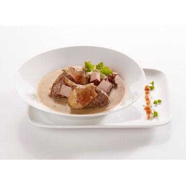 Le Canard à Ma Façon Sauce Bordelaise au Foie Gras et aux Cèpes