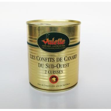 Le Lot de 2 Confits de Canard du Sud-Ouest (2x 2 cuisses)