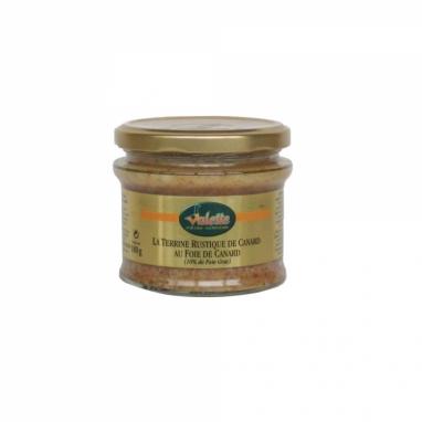 Le Lot de 2 Terrines Rustiques de Canard eu Foie d'Oie de Canard (10% de Foie Gras) 180 g