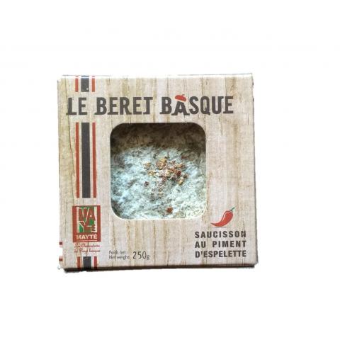 Le béret Basque : saucisson au piment d'Espelette