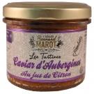 Tartinade de Caviar d'aubergines au jus de citron et piment d'Espelette