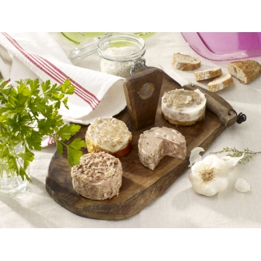 L'Assortiment de 4 Terrines 90 g - 4 bocaux 90 g