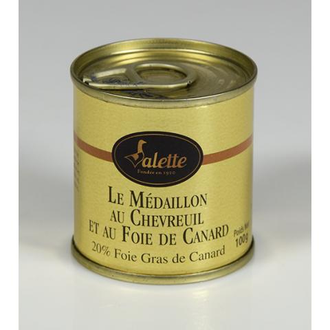 Le Lot de 3 Médaillons de Chevreuil au Foie de Canard - Boîtes de 100 g
