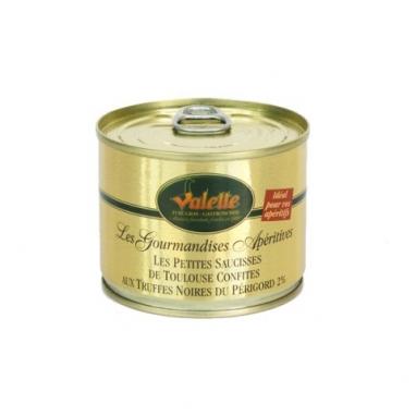 Le Lot de 2 Bôites de Petites Saucisses de Toulouse Confites et de leur Truffe Noire du Périgord 2% 200 g
