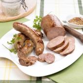 Les Saucisses au Foie Gras de Canard Truffées (20% de foie gras - 3% de truffes noires du Périgord) Mi-Cuit