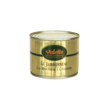 Le Lot de 2 Jambonneaux à la Moutarde à l'Ancienne 200 g + 2 bocaux de moutardes de 90 g