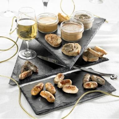 Les Petites Saucisses de Toulouse au Coulis de Tomates, Basilic et Piment d'Espelette