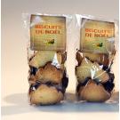 Le lot de 2 sachets de biscuits pur beurre sapin enrobés de chocolat - les 2 sachets de 50 g