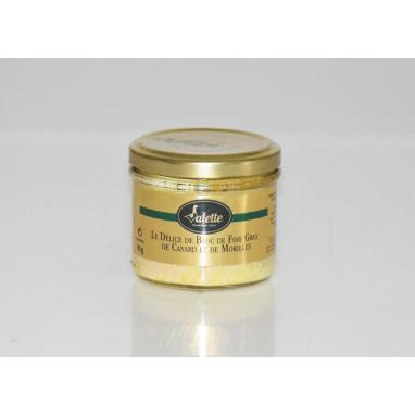 Le Délice de Bloc de Foie Gras de canard et de morilles - Bocal 90 g