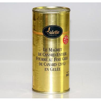 Le Magret de Canard Fourré au Foie Gras de Canard (25% de Foie Gras)