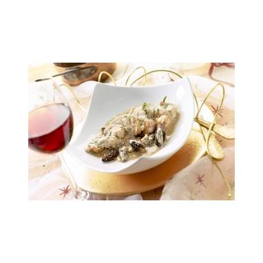 Le lot de 2 ris de veau braisés en cocotte mijotés aux morilles, sauce au jus de truffes noires du Périgord - 2 boaux de 380 g