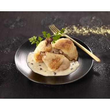 Le Lot de 2 délices de volaille et sa sauce crémée aux champignons - Bocal 350 g