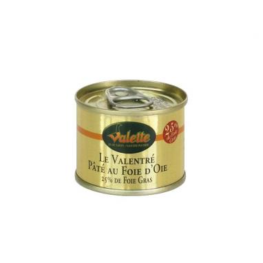 """Le lot de 3 """"Le Valentré"""" - pâtés au foie d'oie (25% de foie gras)"""