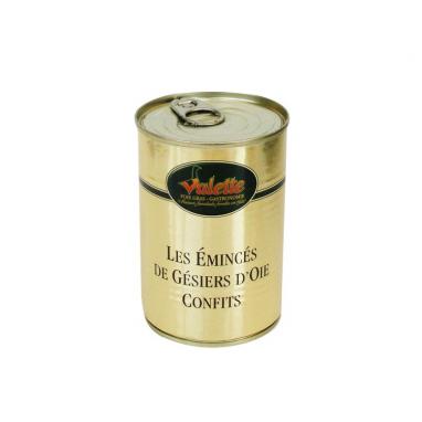 Le lot de 2 Confits de Gésiers d'Oie Emincés - Boîte 400 g