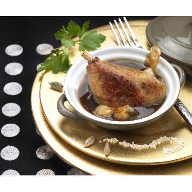 Les 2 bocaux de Canards à ma Façon, sauce Bordelaise au Foie gras 350 g + les Pâtes aux Cèpes 150 g