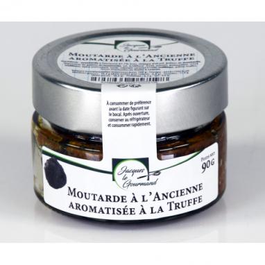 Le Lot de 3 Moutardes à l'Ancienne Aromatisée à la Truffe de 90 g