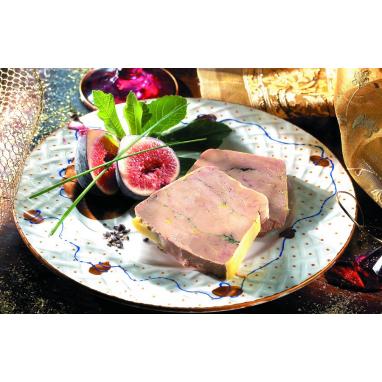 """Le Foie Gras de Canard Entier du Périgord au Sauternes Grand Cru & Poivre Rouge de Kampot """"Cuisson Douce dans sa Terrine""""- 240 g"""