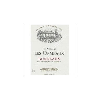 """Une bouteille de Bordeaux Blanc """"Les Ormeaux"""" 75 cl"""