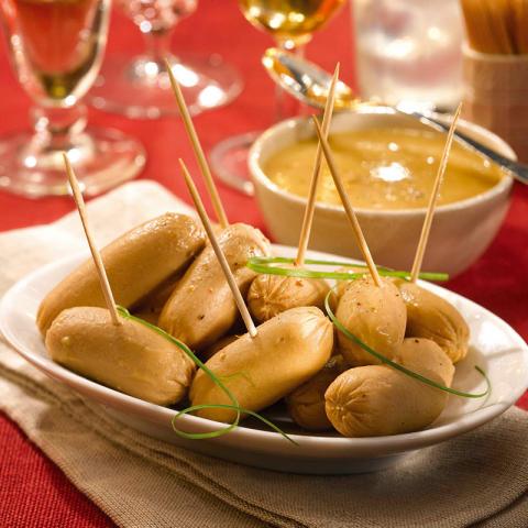 Les Petits Boudins Blancs au Foie de Canard Sauce Royale au Foie Gras (20 % foie gras)