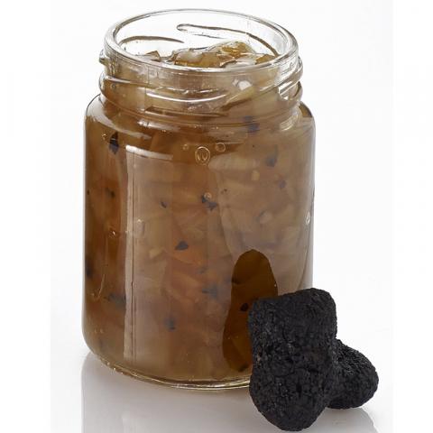 La Compotée d'Oignons à la Truffe d'Hiver (tuber brumale et tuber melanosporum) - Bocal 90 g