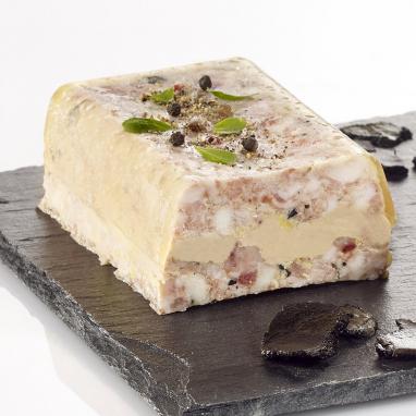 La Terrine au Foie de Canard et Ris de Veau à la Truffe Noire du Périgord 1,5 % (20 % de foie gras) 300 g