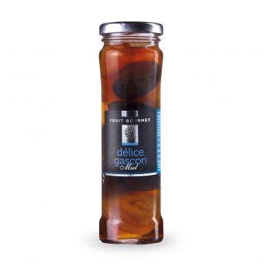 Délice Gascon au Miel (Pruneaux, Figues, Abricots, Sirop & Miel) les 3 bocaux de 190 g