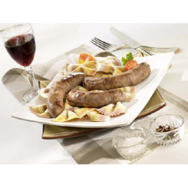 Saucisses de Porc Noir du Limousin et Foie de Canard (20% de Foie Gras), 200g