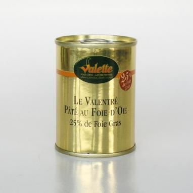 """Le lot de 2 """"Valentré"""" Paté au Foie d'Oie (25% de Foie Gras)"""
